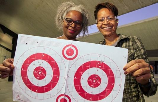 Women with target